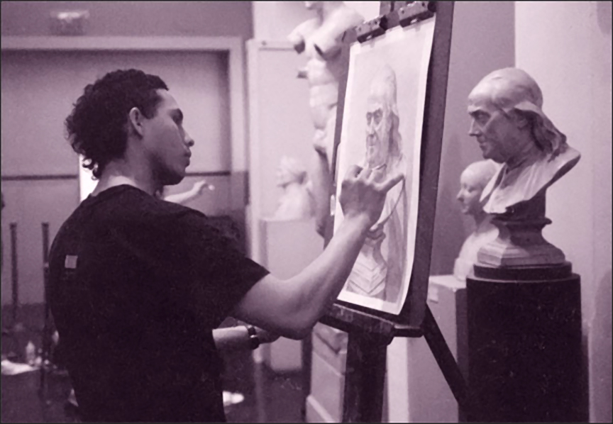 Machyar in PAFA studio hall, 1998